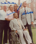 Autographs:Others, Dodgers Hall of Famers Multi-Signed Photograph....