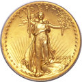 High Relief Double Eagles, 1907 $20 High Relief, Wire Rim MS64 PCGS. CAC....
