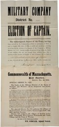 "Miscellaneous:Broadside, Two Civil War-dated Broadsides: ""Election of Captain"" and ""SpecialOrder No. 1422."" ..."