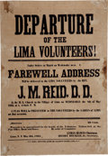 "Miscellaneous:Broadside, 1861 Broadside: ""Departure of the Lima Volunteers!"" ..."