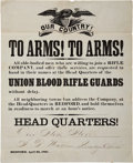 "Miscellaneous:Broadside, 1861 Broadside: ""To Arms! To Arms!"" ..."