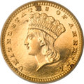 Proof Gold Dollars, 1883 G$1 PR63 Cameo PCGS....