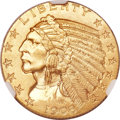 Indian Half Eagles, 1908 $5 MS64 NGC. CAC....