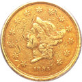 Territorial Gold, 1855 $50 Wass Molitor Fifty Dollar Fine 15 PCGS....