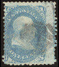 Stamps, 1c Blue, Printed on Both Sides (63e),...