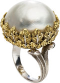 Estate Jewelry:Rings, Mabe Pearl, Gold Ring, Buccellati. ...