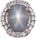 Estate Jewelry:Rings, Star Sapphire, Diamond, White Gold Ring . ...