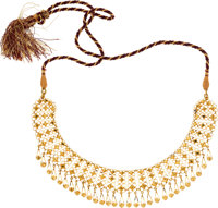 Gold, Thread Necklace