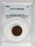 Proof Indian Cents: , 1885 1C PR65 Red and Brown PCGS. PCGS Population (98/51). NGC Census: (58/57). Mintage: 3,790. Numismedia Wsl. Price for pr...