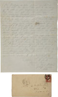 Autographs:Military Figures, Union Soldier's Letter by Elias Buterbaugh of the U.S. Signal Corps. ...