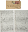 Autographs:Military Figures, Civil War Letter by a Baltimore Unionist Resident....