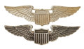 Military & Patriotic:WWI, Post World War I: Two United States Army Pilot Wings, Circa1920s.... (Total: 2 Items)