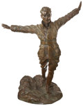 "Military & Patriotic:WWI, World War I: ""On Ne Passe Pas"" Bronze Sculpture by GuiraudRiviere...."
