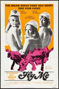 "Movie Posters:Sexploitation, Fly Me (New World, 1973). One Sheet (27"" X 41""). Sexploitation....."