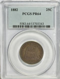 Proof Seated Quarters, 1882 25C PR64 PCGS....