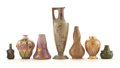 Ceramics & Porcelain, Continental:Modern  (1900 1949)  , PROPERTY FROM A FLORIDA COLLECTION. A GROUP OF SEVEN VARIOUSEUROPEAN POTTERY VASES. Early 20th century. Marks: various fa...(Total: 7 Items)