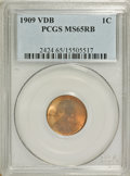 1909 VDB 1C MS65 Red and Brown PCGS. PCGS Population (690/77). NGC Census: (0/0). Mintage: 27,995,000. Numismedia Wsl. P...