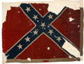 """Military & Patriotic:Civil War, """"One of six rebel battle flags captured from the rebel Gen'l Hoke's Division in their assault on the 1st (Stannard's) Division..."""