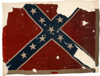 """""""One of six rebel battle flags captured from the rebel Gen'l Hoke's Division in their assault on the 1st (Stannard'..."""