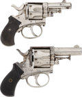 Military & Patriotic:Indian Wars, Two British Bull Dog .32 Caliber Double Action Revolvers.... (Total: 2 Items)