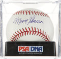 Autographs:Baseballs, Moose Skowron Single Signed Baseball, PSA Mint 9.. ...