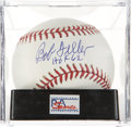 Autographs:Baseballs, Bob Feller Single Signed Baseball PSA Mint+ 9.5.. ...