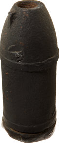"Military & Patriotic:Civil War, Fired Confederate 3"" Read Case Shot with Side Loader Plug and Lathe Notch. ..."