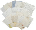 Autographs:Military Figures, Union Letter Archive from the Chadbourn Family of Maine, ...