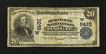 National Bank Notes:Colorado, Canon City, CO - $20 1902 Plain Back Fr. 652 The Fremont County NBCh. # (W)8433. ...