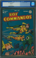 Golden Age (1938-1955):Adventure, Boy Commandos #17 (DC, 1946) CGC VF 8.0 Off-white pages.