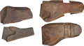 Military & Patriotic:Indian Wars, Lot of Four Vintage Western Holsters.... (Total: 4 Items)