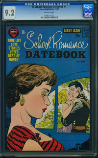 Hi-School Romance Datebook #1 (Harvey, 1962) CGC NM- 9.2 Off-white pages