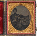 Military & Patriotic:Civil War, Sixth Plate Tintype of a Young Federal Infantry Drummer....