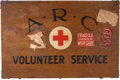 Military & Patriotic:WWI, American Red Cross WWI Wooden Transit Chest....