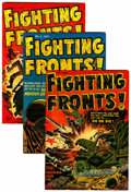 Golden Age (1938-1955):War, Fighting Fronts! #1-5 File Copies Group (Harvey, 1952-53)Condition: Average VF+.... (Total: 5 )