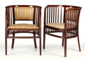 Furniture : Continental, MARCEL KAMMERER. Two Pairs of Armchairs, circa 1905-1906. 30-3/4 x 23 x 24 inches (78.1 x 58.4 x 61.0 cm) each. and 30-1... (Total: 2 Items)