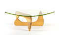 """Furniture , ISAMU NOGUCHI. A Wood and Glass """"IN-50"""" Coffee Table, designed 1944. 15-3/4 x 51 x 37 inches (40.0 x 129.5 x 94.0 cm). ... (Total: 2 Items)"""