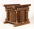 African, AN AFRICAN BAMBOO TABLE. Cameroon. 18 x 15 x 20 inches (45.7 x 38.1 x 50.8 cm). ...