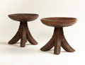 African, A PAIR OF IBO STOOLS. Nigeria, circa 1920. 12 x 12 inches (30.5 x30.5 cm) each. ...