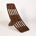African, AN AFRICAN TRIBAL SEAT. Democratic Republic of Congo. 25-1/2 x9-1/2 x 9-1/2 inches (64.8 x 24.1 x 24.1 cm). ...