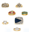 Estate Jewelry:Lots, Lot of Diamond, Multi-Stone, Gold Rings. ... (Total: 7 Items)