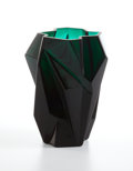 "Art Glass:Other , PROPERTY OF A TEXAS COLLECTOR. REUBEN HALEY FOR CONSOLIDATED GLASSCOMPANY. A ""Ruba Rombic"" Dark Green Glass Vase, circa 1..."