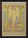 Fine Art - Work on Paper:Print, JAN TOOROP. Het Hooge Land, 1896. Lithograph in colors. Signed with monogram on the stone. Printed by S. Lankhout & Co....