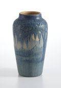 """Ceramics & Porcelain, NEWCOMB COLLEGE . A """"Moss and Moon"""" Matte-Glazed Pottery Vase, potted by Joseph Meyer, decorated by Anna Frances Simpson, 1..."""