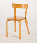 Furniture , ALVAR AALTO. A Laminated Birch Chair, model no. 69, circa 1930s. Marks: bearing stamp. 29 x 16 x 18 inches (73.7 x 40.6 x 45...