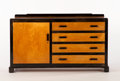 Furniture : Continental, ALVAR AALTO FOR FINMAR. A Modernist Black-Lacquered and Laminated Birch Sideboard, circa 1930. Marks: bearing decal. 30 x 54...