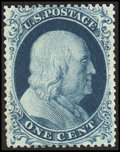 Stamps, 1c Blue, Type II (20),...