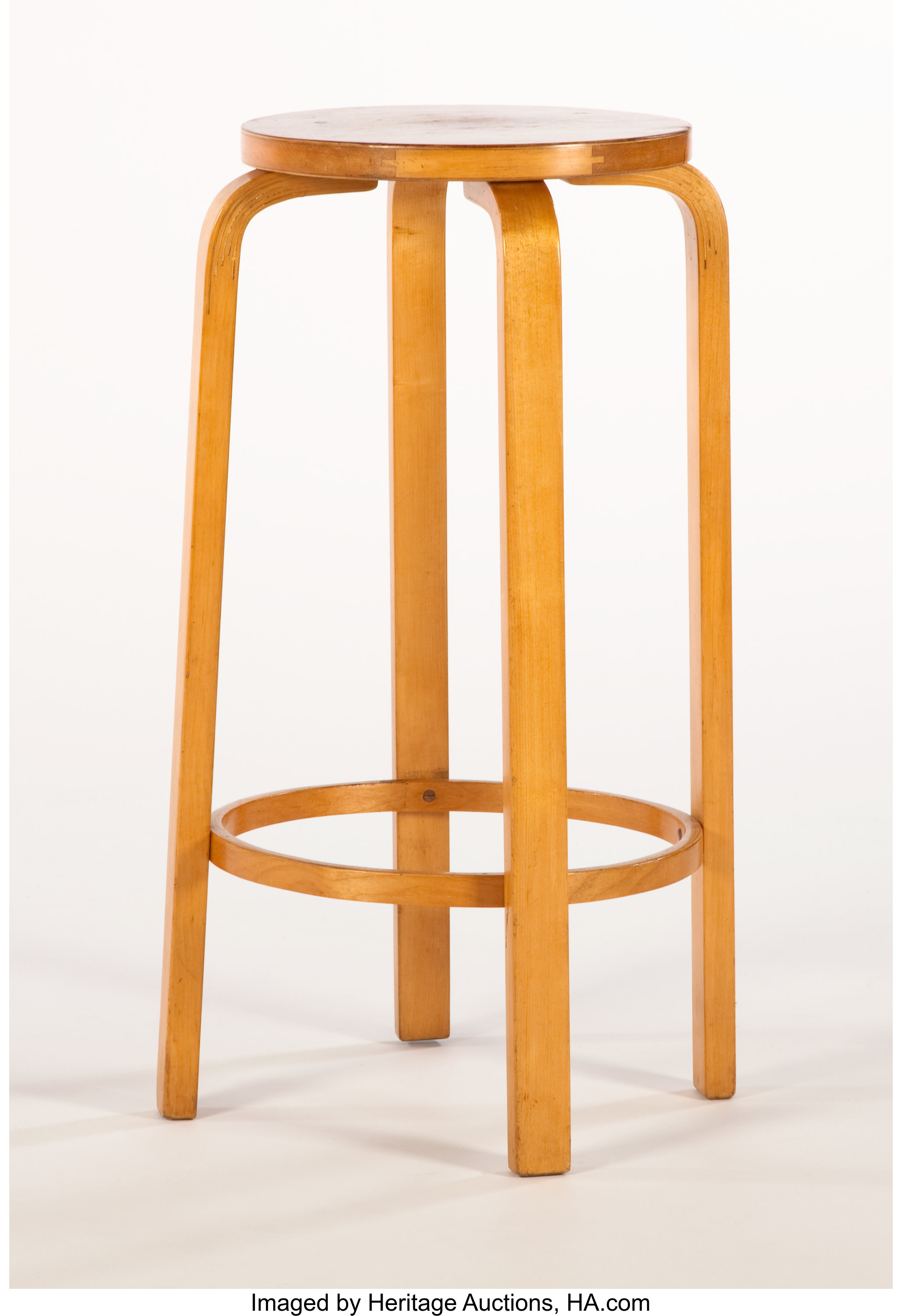 Terrific Alvar Aalto A Laminated Birch High Stool With Foot Rest Ocoug Best Dining Table And Chair Ideas Images Ocougorg