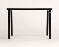 Furniture : Continental, ALVAR AALTO. A Rectangular Black-Painted Laminated Birch Table,model no. 81. 27 x 39-1/2 x 21 inches (68.6 x 100.3 x 53.3 c...