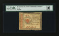 Colonial Notes:Continental Congress Issues, Continental Currency January 14, 1779 $4 PMG Very Good 10....